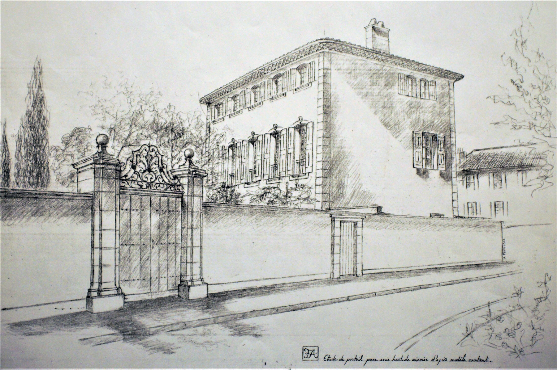 Restauration d une bastide aixoise dessins en for Dessins d architecture bricolage